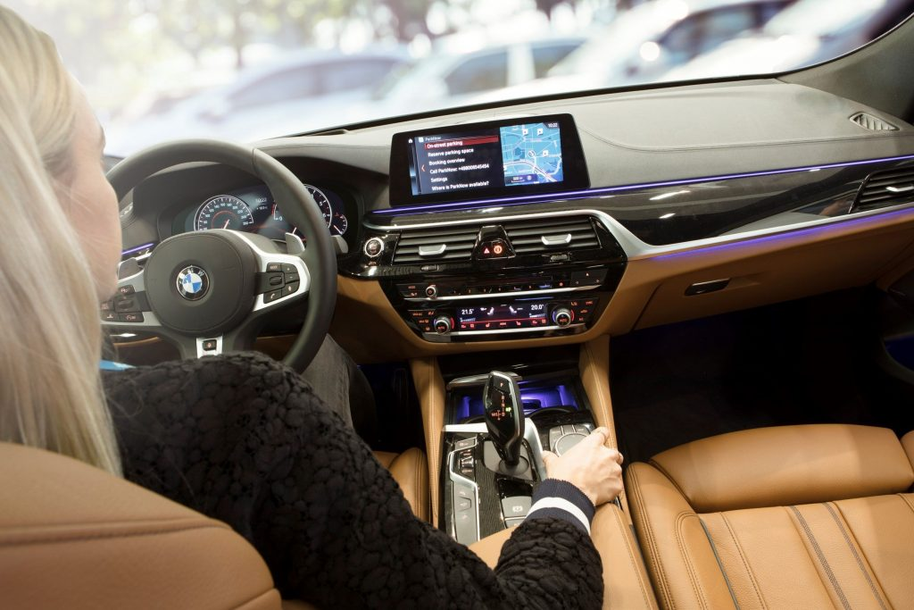 BMW in car dashboard